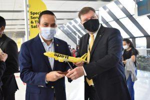 Spirit Airlines inaugura conexión directa entre EEUU y Santander
